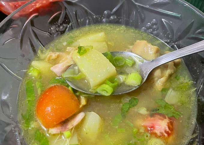 Soto ayam rendah kalorie cocok untuk diet 👍🏻