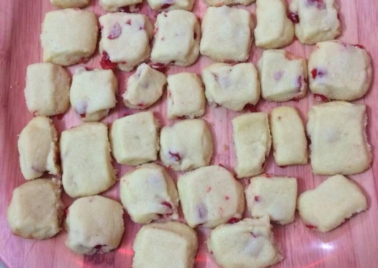 Recipe: Delicious Cherry Short Bread cookies