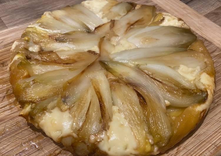 Recette Appétissante Tarte tatin aux endives et maroilles
