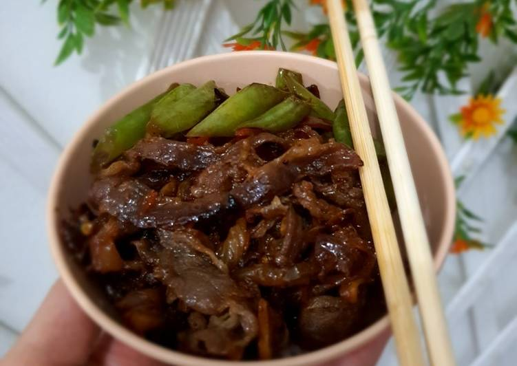Beef original yoshinoya atau Racha
