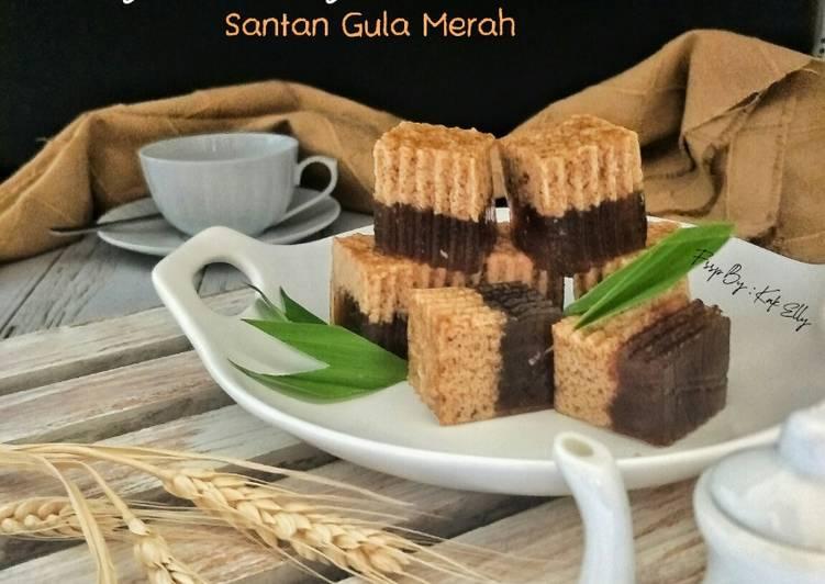 Resepi:  Agar-agar santan gula merah😋  Enak