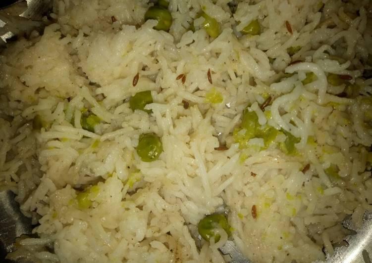 Recipe of Super Quick Homemade Peas rice