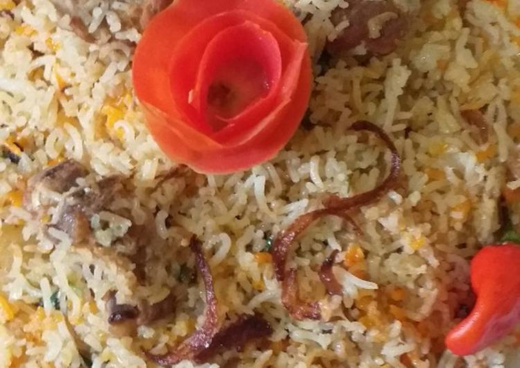 Simple Way to Prepare Homemade Hydrabad bomby mutton biryani