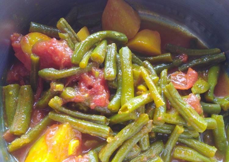 Steps to Prepare Homemade Green beans masala
