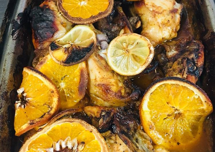 Ayam panggang saus orange dan lemon ala Chef Turnip