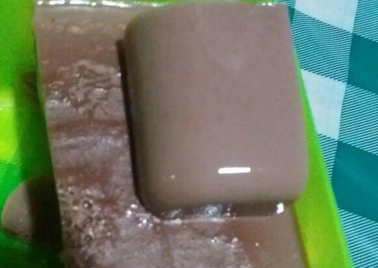 resep cara membuat Puding coklat tanpa telur