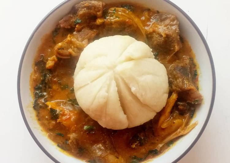 Use Food to Boost Your Mood Ogbono soup with fufu