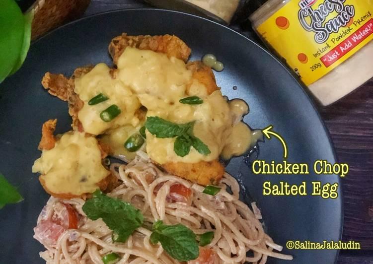 Chicken Chop Salted Egg & Spaghetti Carbonara Cheese - velavinkabakery.com