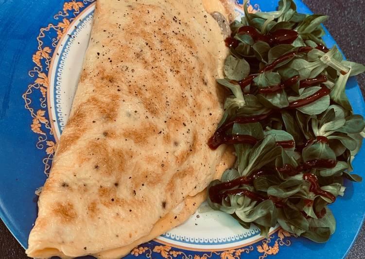 Salade & omelette garnie 🥗
