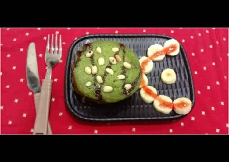 Banana spinach pan cake