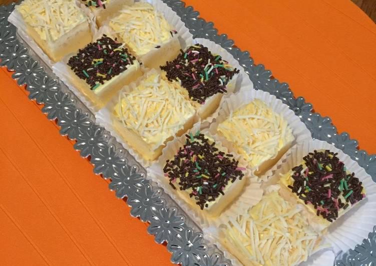Langkah Mudah untuk Membuat Orange Ogura Cake Slice yang Enak Banget