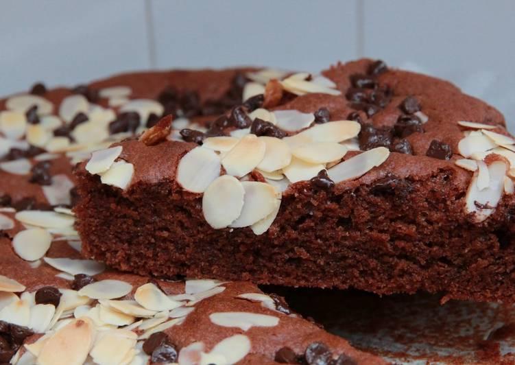 Recette  Gâteau tout choco et amandes