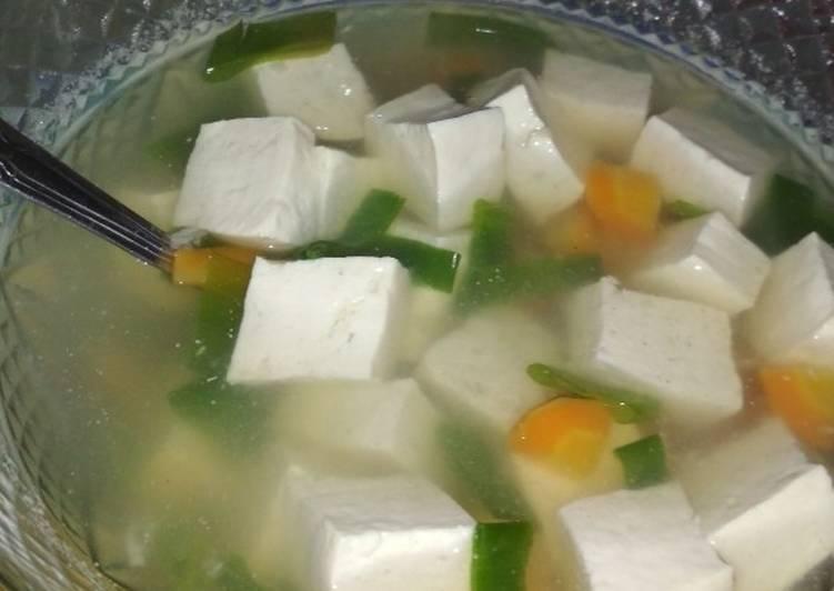 Sup tahu wortel untuk diet (murah meriah dan bergizi)