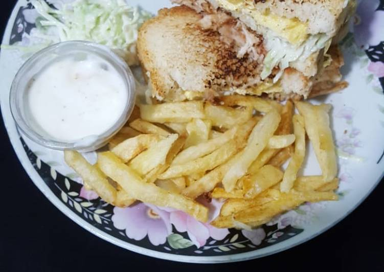 Mayyo chicken sandwich