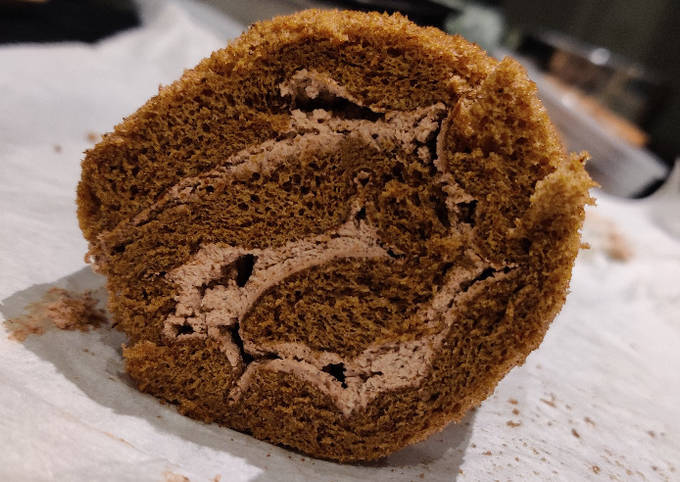 Japanese Chocolate Swiss Roll Cake