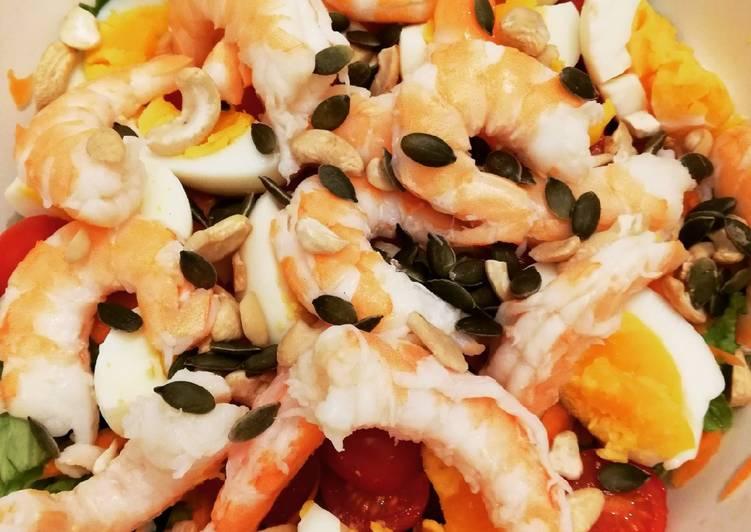 Salade composée avec Gambas