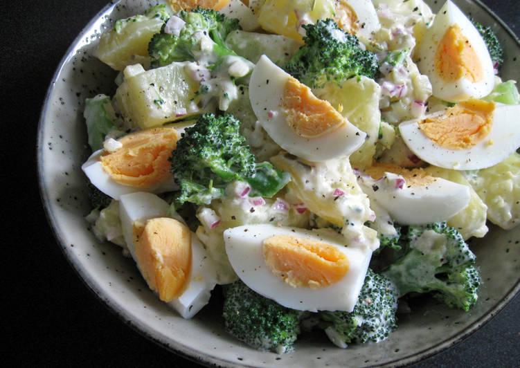 Step-by-Step Guide to Prepare Super Quick Homemade Broccoli, Egg & Potato Salad