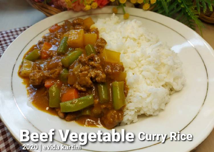 Beef Vegetable Curry Rice