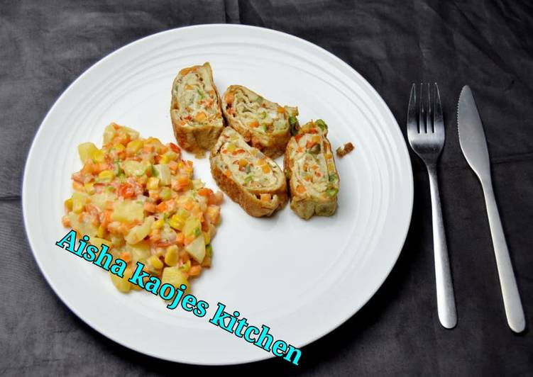 Recipe of Any-night-of-the-week Egg rolls and potato salad