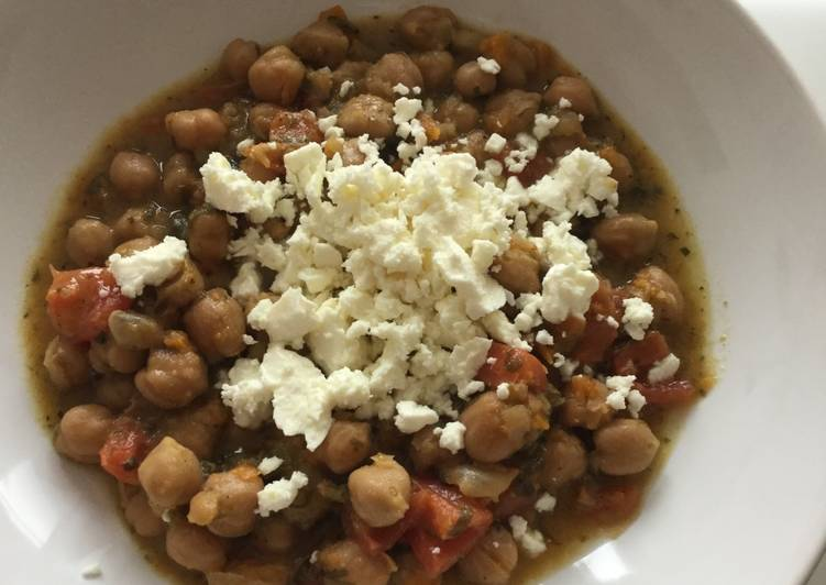 Step-by-Step Guide to Prepare Ultimate Chickpeas with greek feta