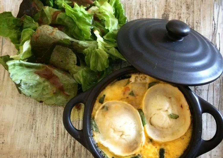 recette Clafoutis chèvre / courgettes / tomates séchées et basilic le délicieux