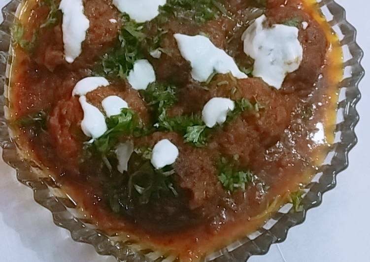 10 Minute Recipe of Favorite Chicken kofta Curry