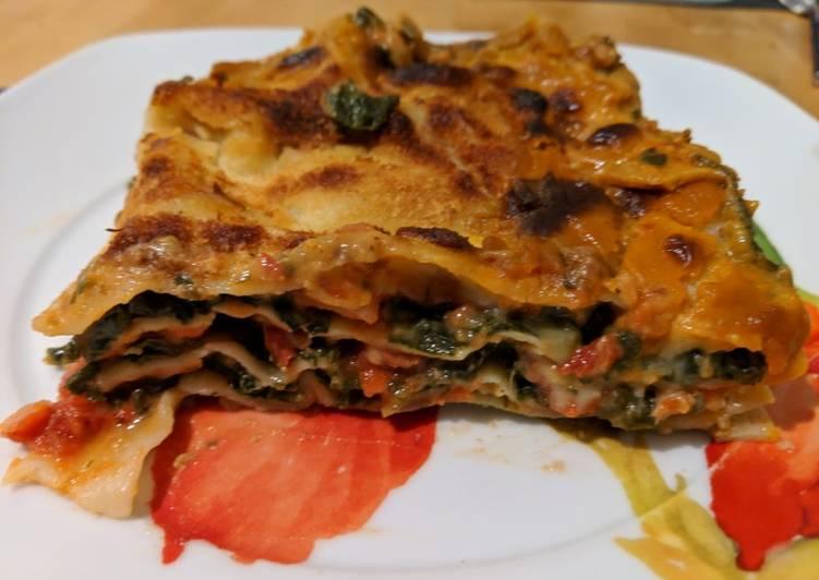 Lasagnes à la florentine veganes
