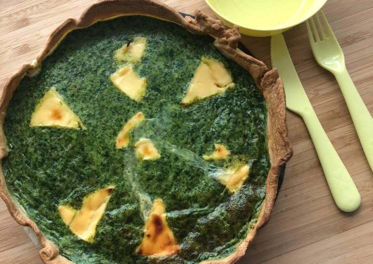 Façon la plus simple Faire Appétissant Tarte épinards / haricots verts/ kiri