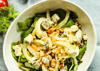 Easiest Way to Cook Tasty Fennel Lettuce Cashew Salad with Lemon Honey Dressing