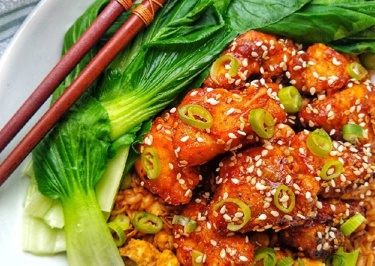 Sticky Honey Sesame Chicken Recipe By Natalie Marten Cookpad