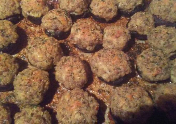 Simple Way to Prepare Quick Garlic and Herb Stuffed Portabella Mushrooms