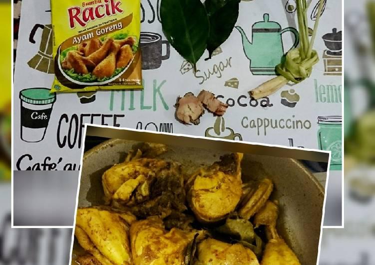 Ayam broiler ungkep bumbu instant kaya rasa dan aroma