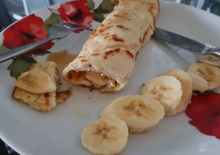 Recipe of Ultimate My Banana Cinnamon Pancake Wrap for Breakfast. 💗