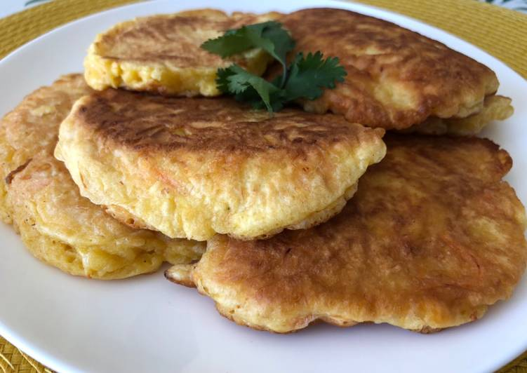Carrot and Cheese Savory Pancakes