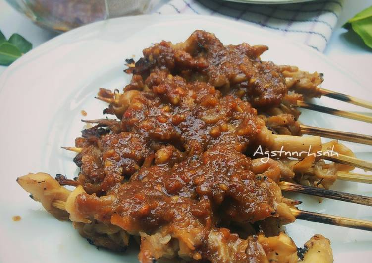 Sate Jamur Tiram (bakar teplon)