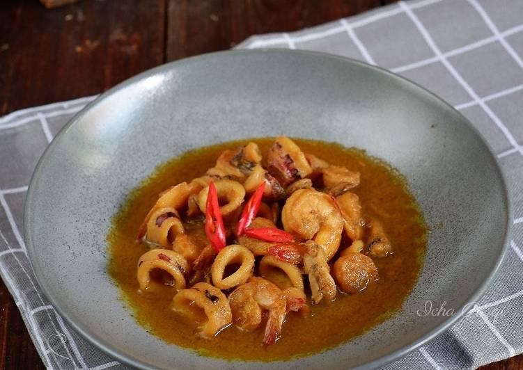 Cumi Udang Saus Mentega ala Seafood Kapasan