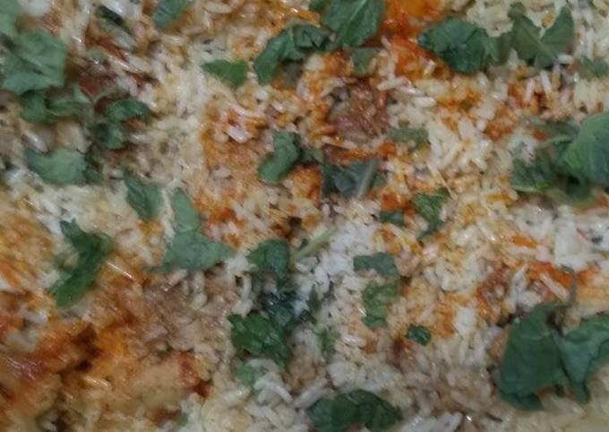 Quick chicken Biryani