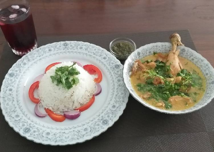 Step-by-Step Guide to Prepare Homemade Chicken in coconut milk#my favourite Easter Dish contest