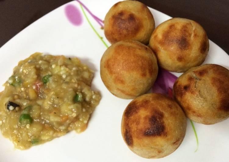 What is Dinner Ideas Super Quick Homemade Litti Chokha in Appam Pan
