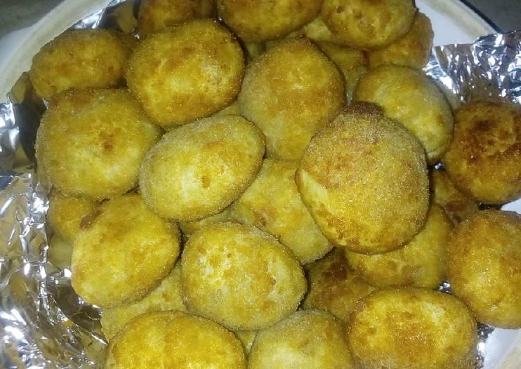 Steps to Prepare Super Quick Homemade Flour filled potato balls