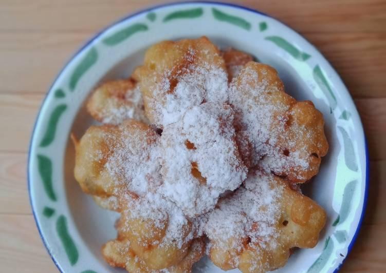 Pisang Gumpal tabur gula halus