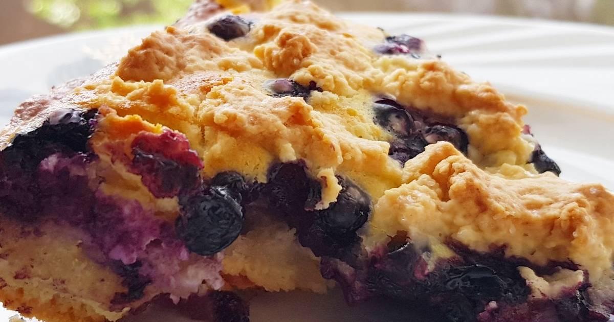 Пирог с черникой пошаговое фото