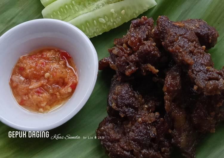 Gepuk Daging Khas Sunda
