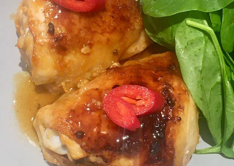 Midweek Dinner Asian Style Glazed Chicken Thighs