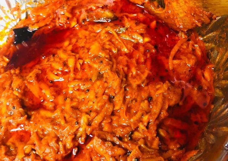 30 Minute Easiest Way to Prepare Love Garlicky Raw Mango thokku /pickle