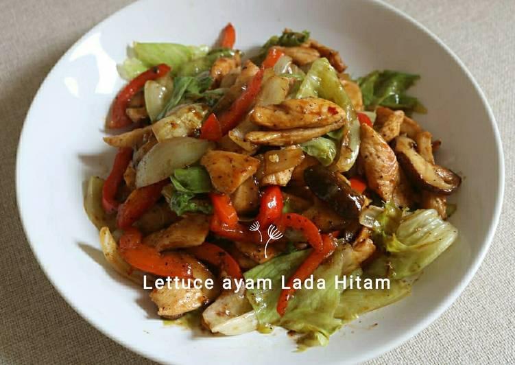 Resep Lettuce ayam lada hitam Yang Mudah Enak