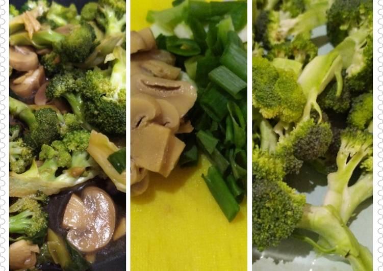 Brokoli jamur tumis