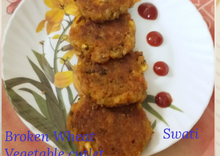 Broken wheat vegetable cutlet - Laurie G Edwards