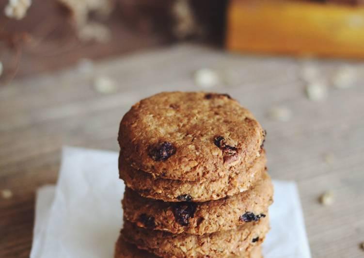Biscotti integrali di farro con l'uvetta. Grancereale fatti in casa ❤️