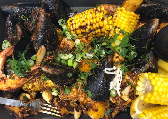 Asian Style Cajun Seafood Boil for Two